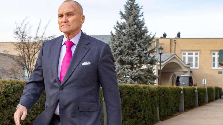 Former NYPD Commissioner Ray Kelly leaves the Parrish