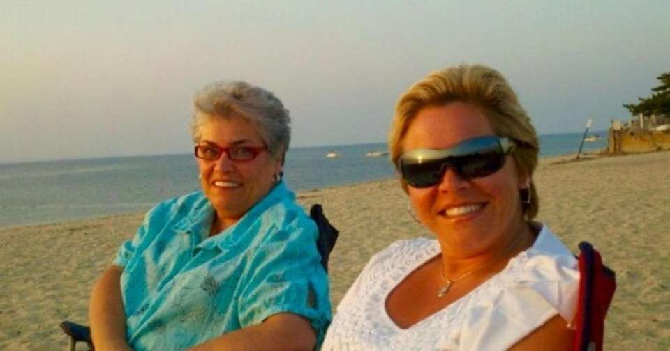 Mom donna and daughter Sandy enjoying a sunset