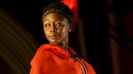 Zainab Jah stars as the Venus Hottentot in