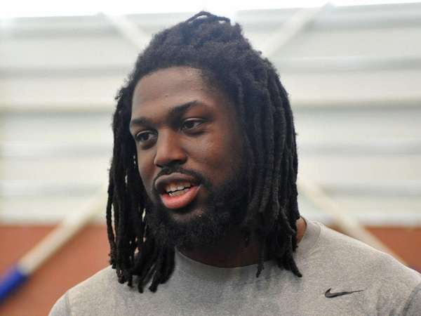 Giants rookie defensive end Avery Moss, whowas selected