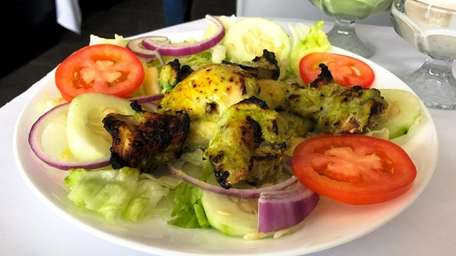 Hara bhara spicy chicken is a house specialty