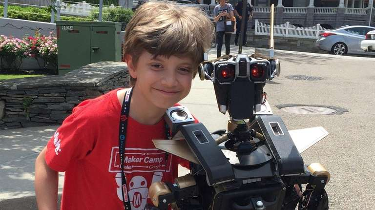 Ray Rumore, 10, of Albertson built his own