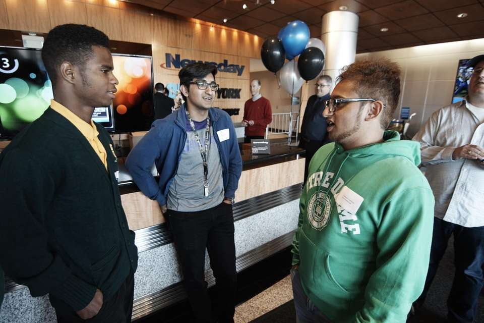 Jefferson Fontaine, of Wyandanch High School, left, Mohammad