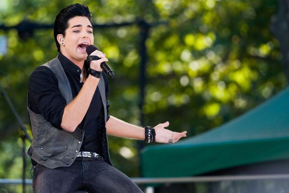 Adam Lambert performs on ABC's