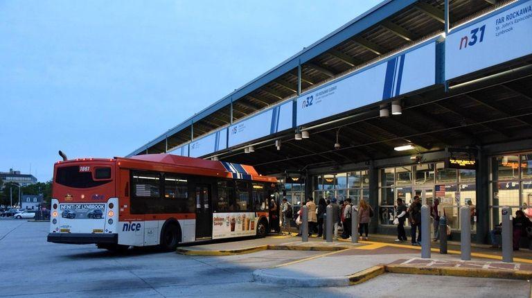 The Hempstead Transit Center on West Columbia Street