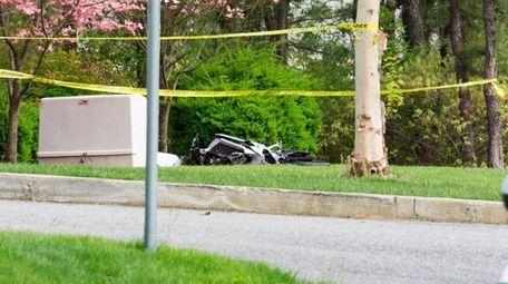 A motorcyclist was killed after striking a minivan