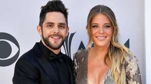 Recording artist Thomas Rhett and his wife, Lauren