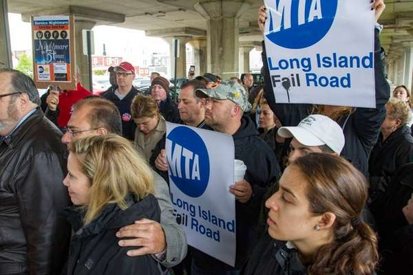 LIRR commuters rally against the unprecedented delays and