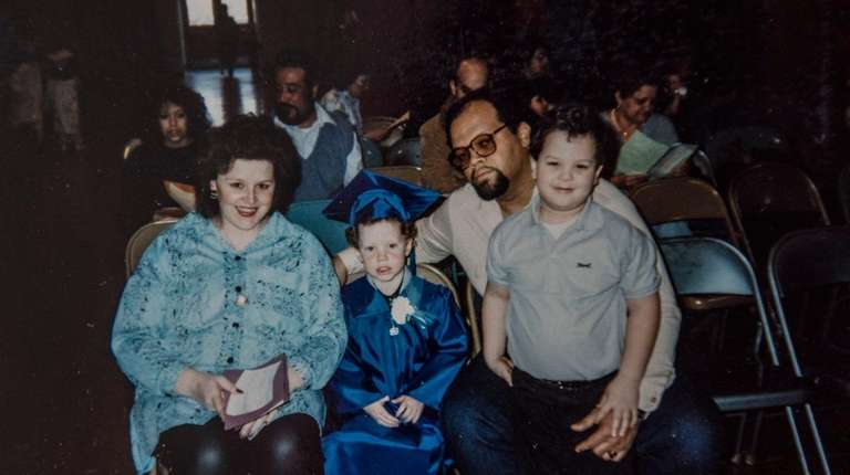 A family photo from the mid-1980s shows Colleen