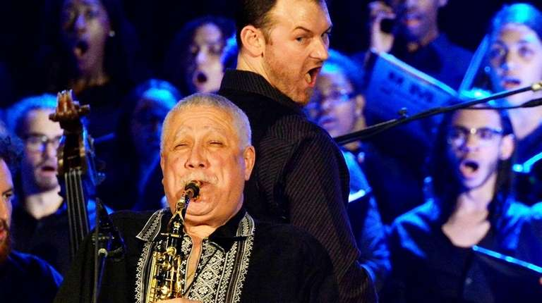 Jazz master Paquito D'Rivera and students from the