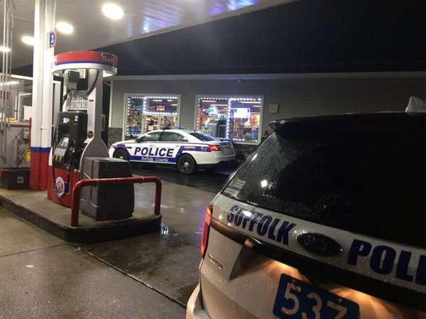 Suffolk County police respond to an attempted robbery
