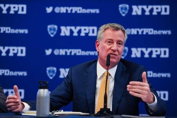 Mayor Bill de Blasio, seen here on May