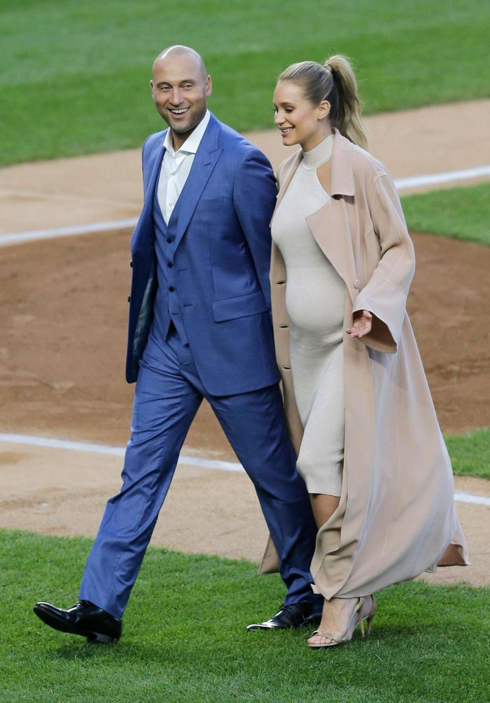 Former New York Yankee Derek Jeter and his