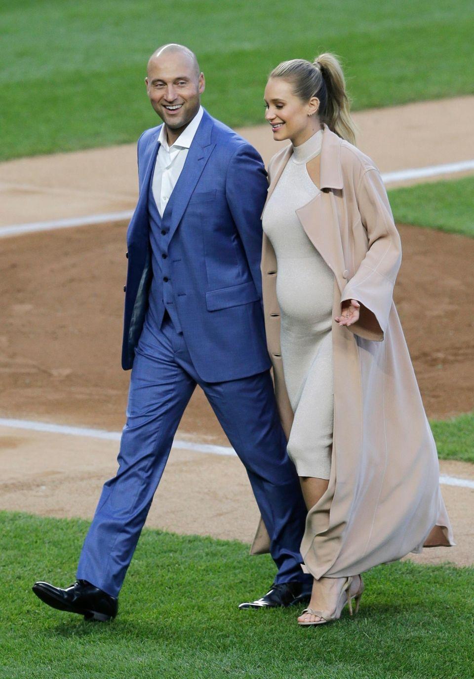 Former New York Yankee Derek Jeter and his