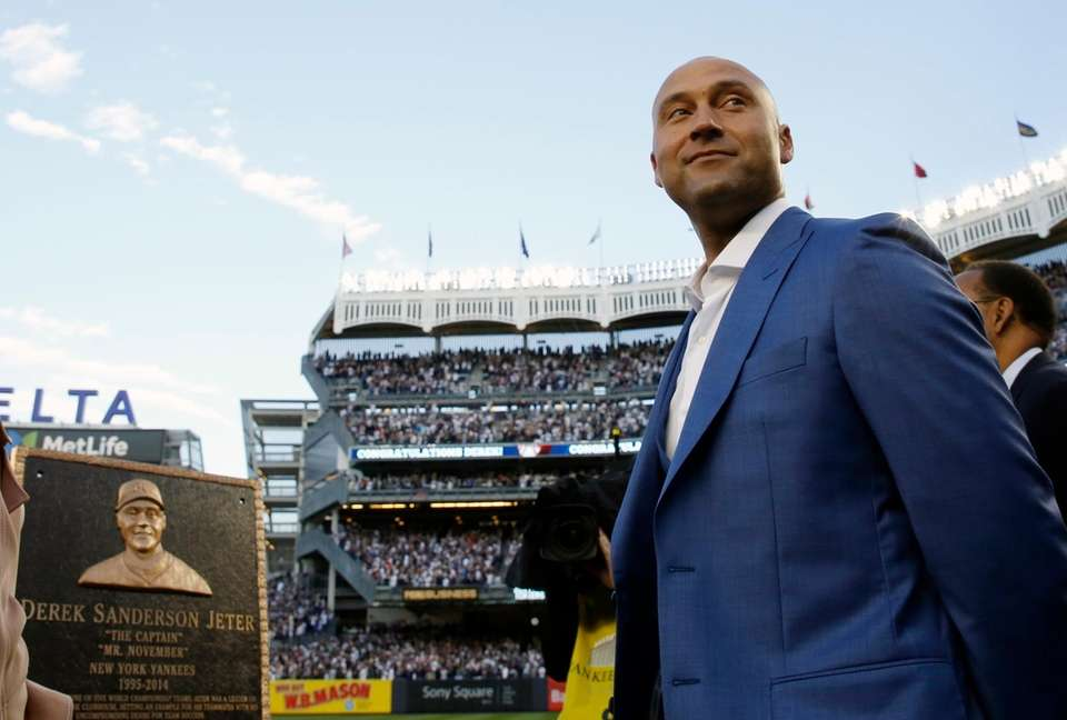 Retired New York Yankees shortstop Derek Jeter during