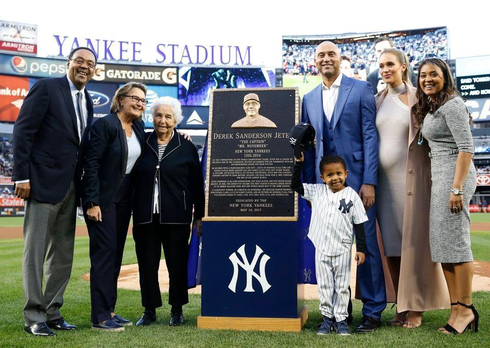 Retired New York Yankees shortstop Derek Jeter third