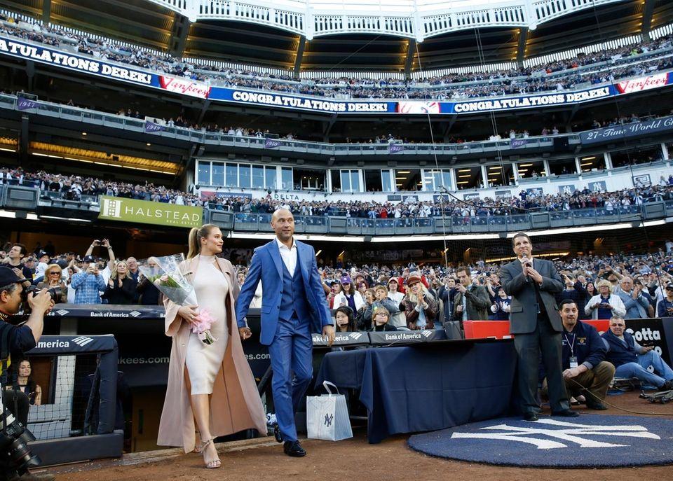 Retired New York Yankees shortstop Derek Jeter and