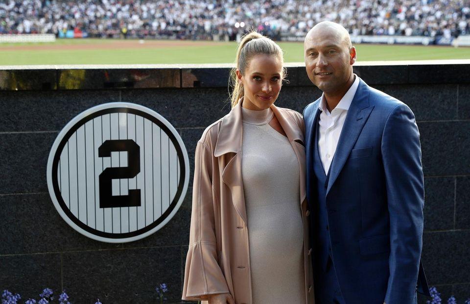 Retired New York Yankees shortstop Derek Jeter, with