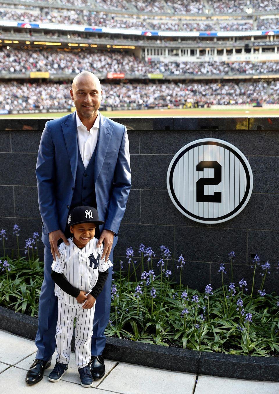 Retired New York Yankees shortstop Derek Jeter with