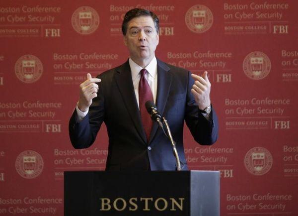 FBI Director James Comey speaks in Boston, March