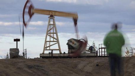An oil rig near the town of Usinsk.