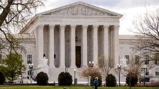 The Supreme Court is seen in Washington, Friday,