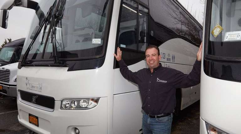 Mark Vigliante, M&V Limousines president and CEO, stands