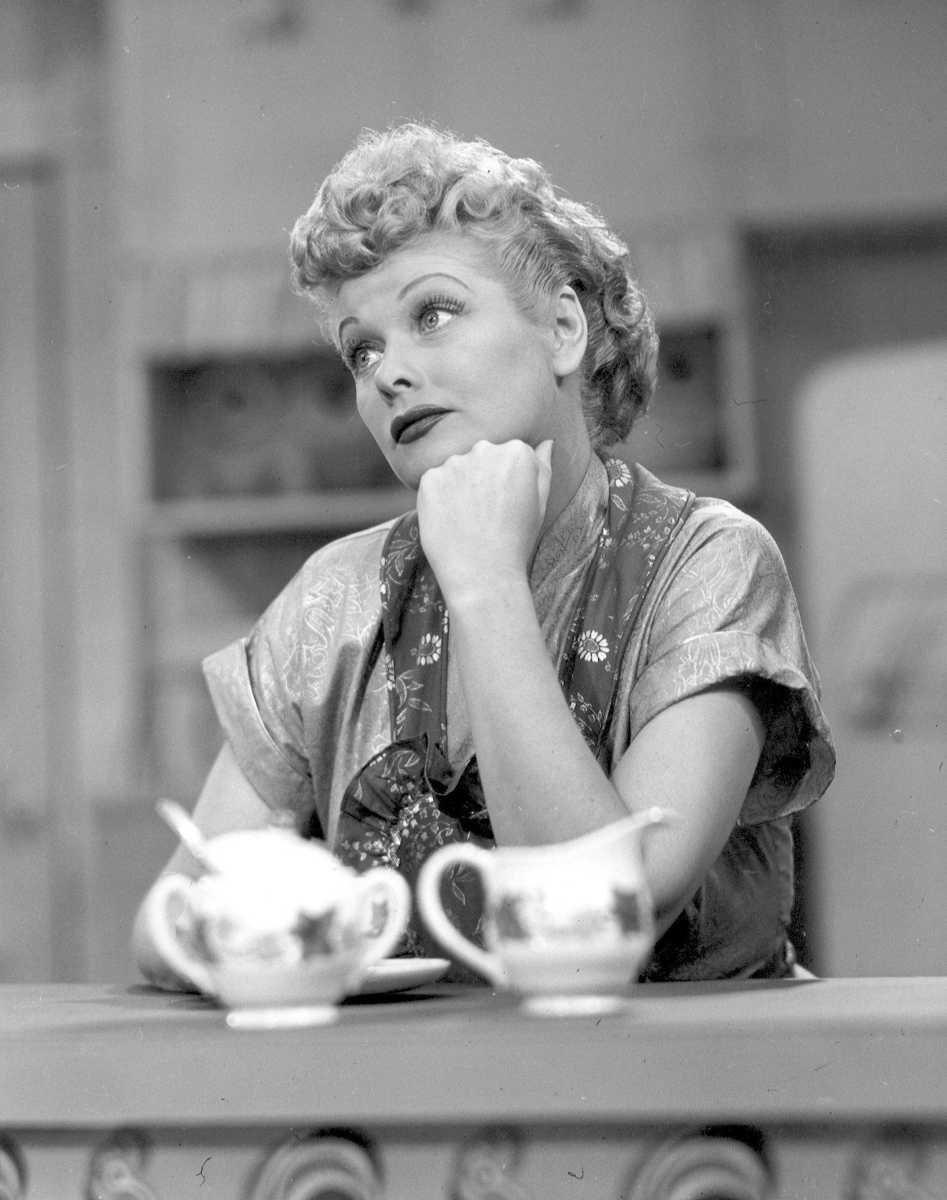 The wacky, eccentric Lucy Ricardo (Lucille Ball) on