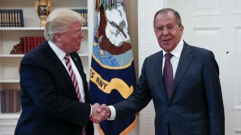 President Donald Trump meeting with Russian Foreign Minister