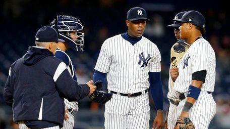 Aroldis Chapman #54 of the New York Yankees