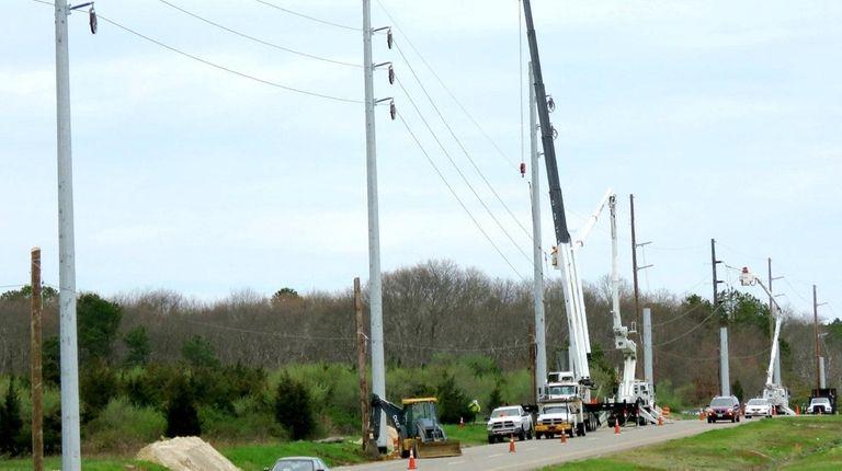 PSEG is replacing older wooden poles on Eastport