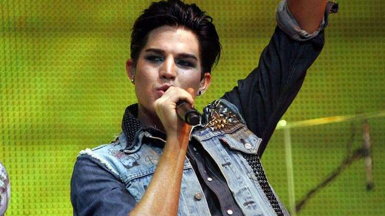 Adam Lambert performs at Nassau Coliseum during the