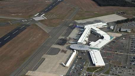 Long Island MacArthur Airport is shown in an