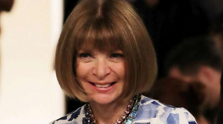 Anna Wintour attends the Victoria Beckham spring /