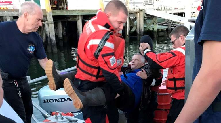 The Coast Guard rescues a 58-year-old man who