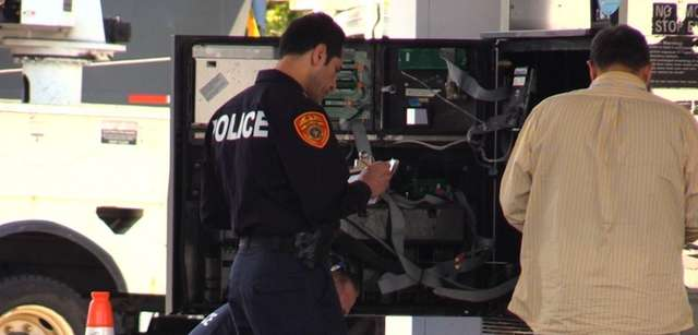 Police are investigating a report of a skimming