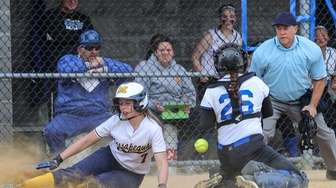 Massapequa's Olivia Howes is safe with the winning