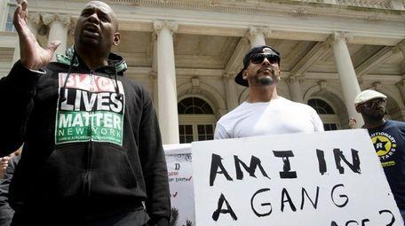 Black Lives Matter activist Hawk Newsome, left, and