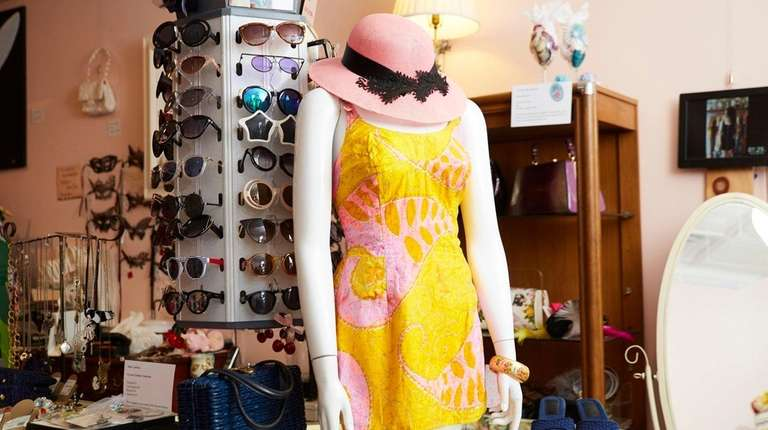 A mid-20th-century bathing suit at Paper Doll Vintage