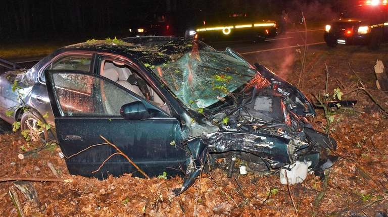 State Police respond to a one-car crash on