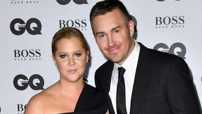 Amy Schumer and Ben Hanisch seen in
