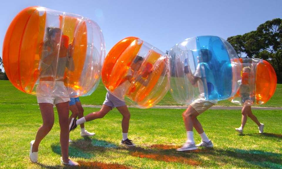 The Bubble Ball, made of durable PVC material,
