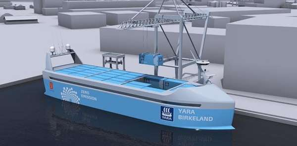 The vessel Yara Birkeland will be the world's