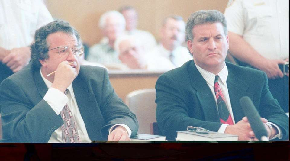 Attorney Dominic Barbara, left, and his client, Joey
