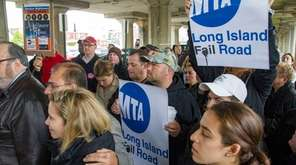 LIRR commuters they rally against the unprecedented delays
