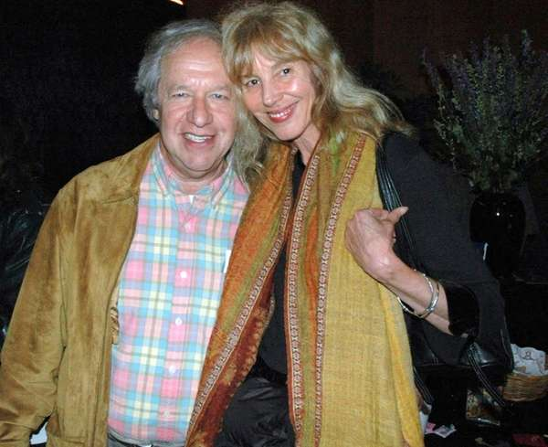 Nicholas Sand with his wife, Gina