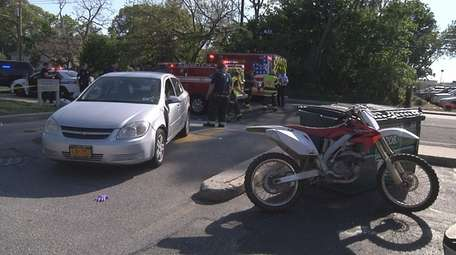 A dirt bike rider was taken to the