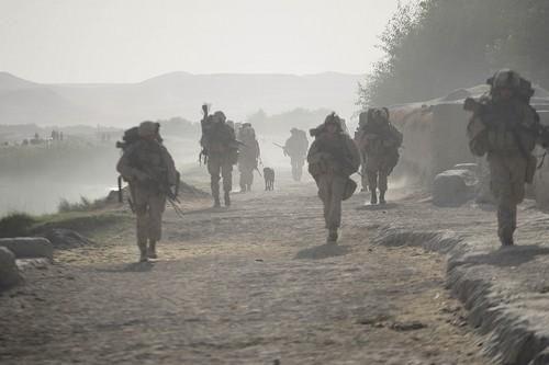 U.S. Marines from the 2nd Marine Expeditionary Brigade,