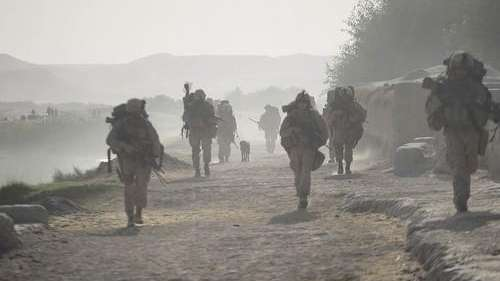 U.S. Marines from the 2nd Marine Expeditionary Brigade,