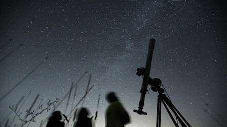 Astronomers observe the night sky for the Perseid